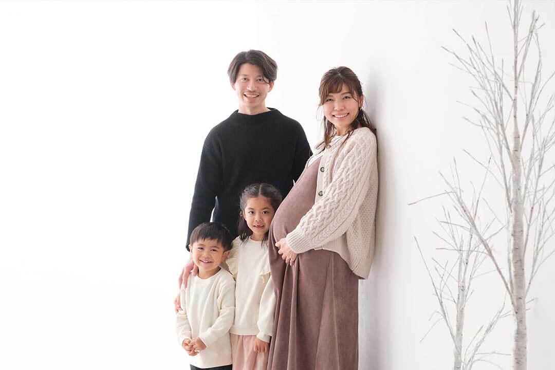 マタニティーフォトの家族写真
