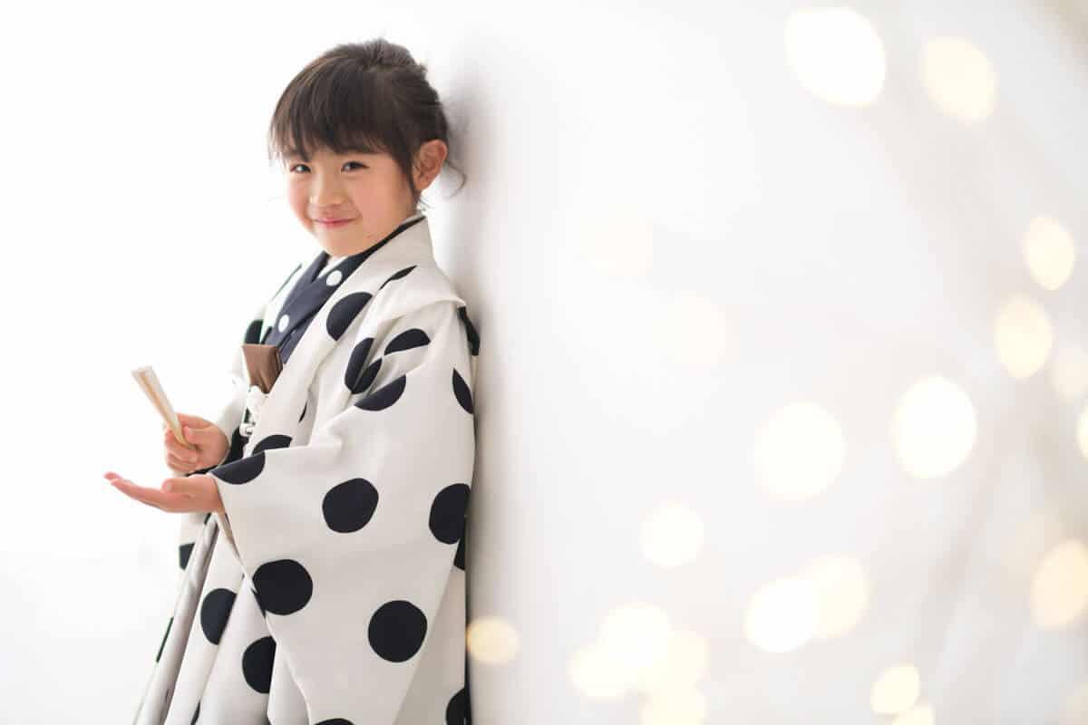 七五三5歳男の子水玉の着物