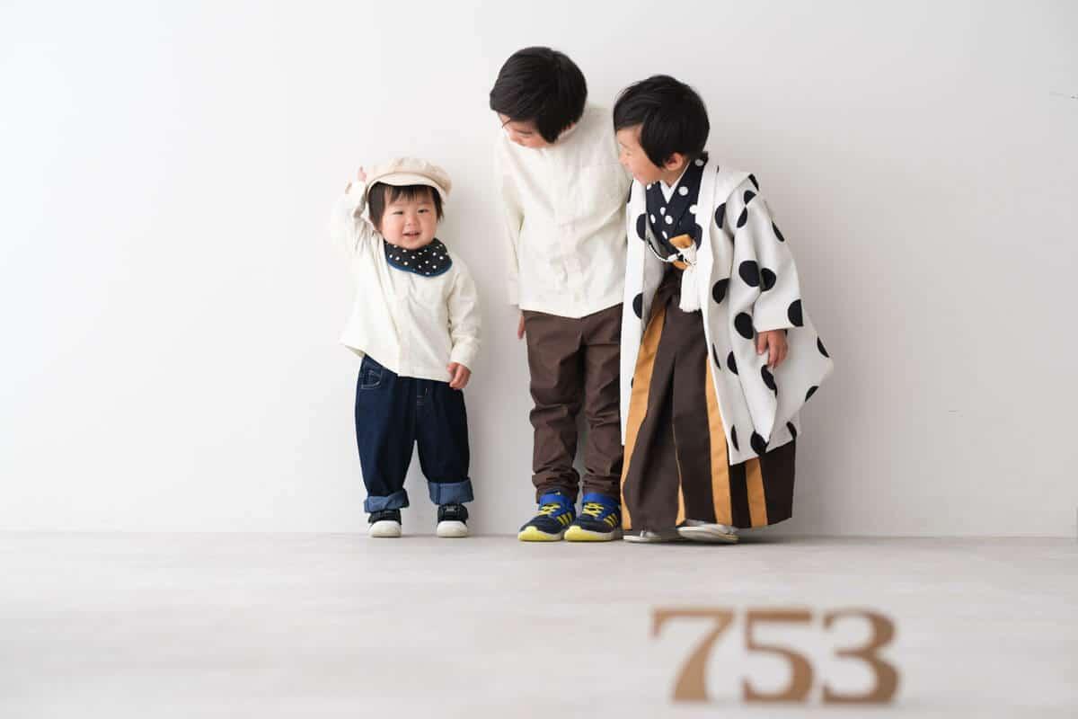 福岡県福津市の七五三兄弟スタジオ撮影