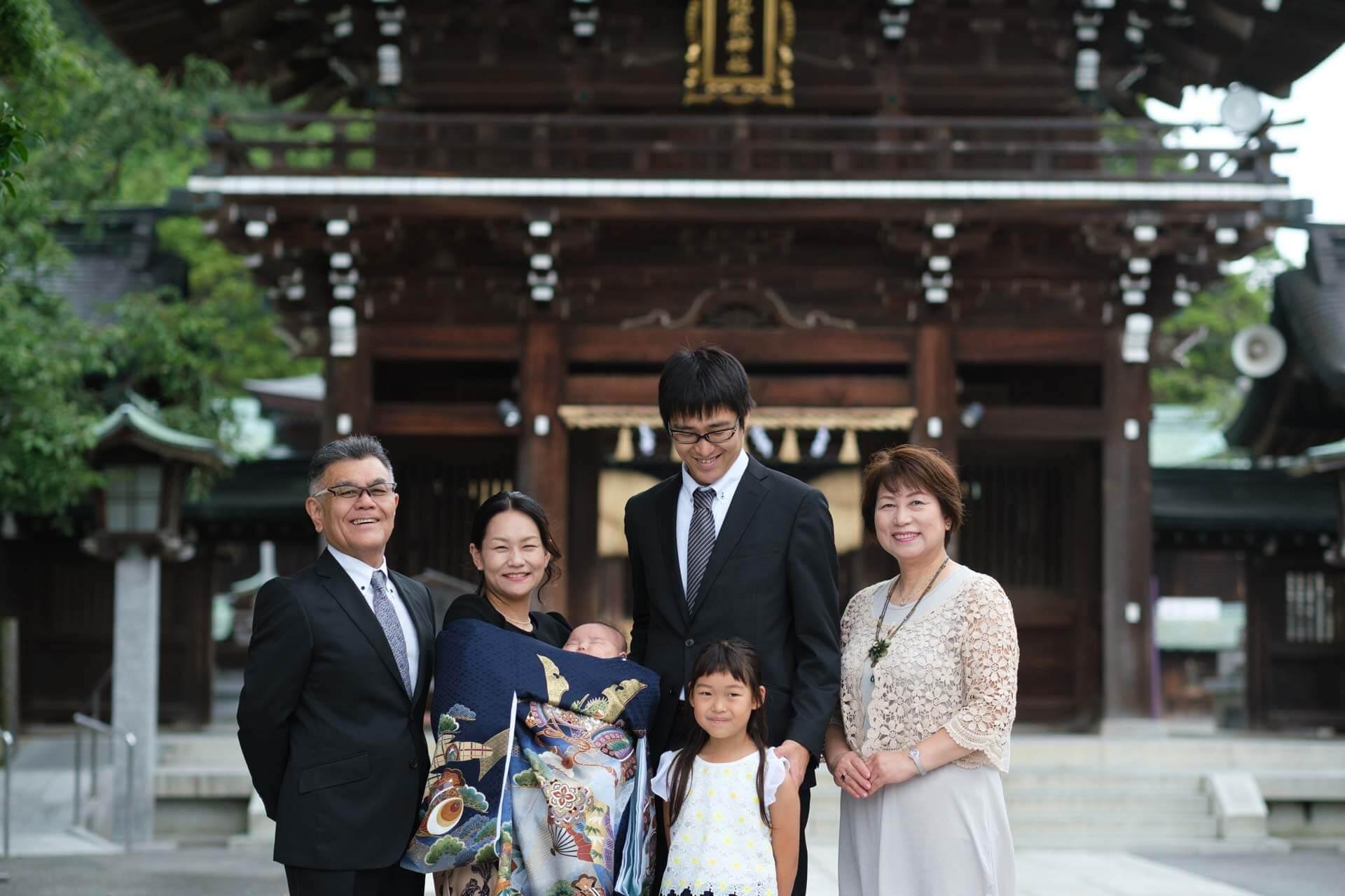 宮地嶽神社でお宮参り