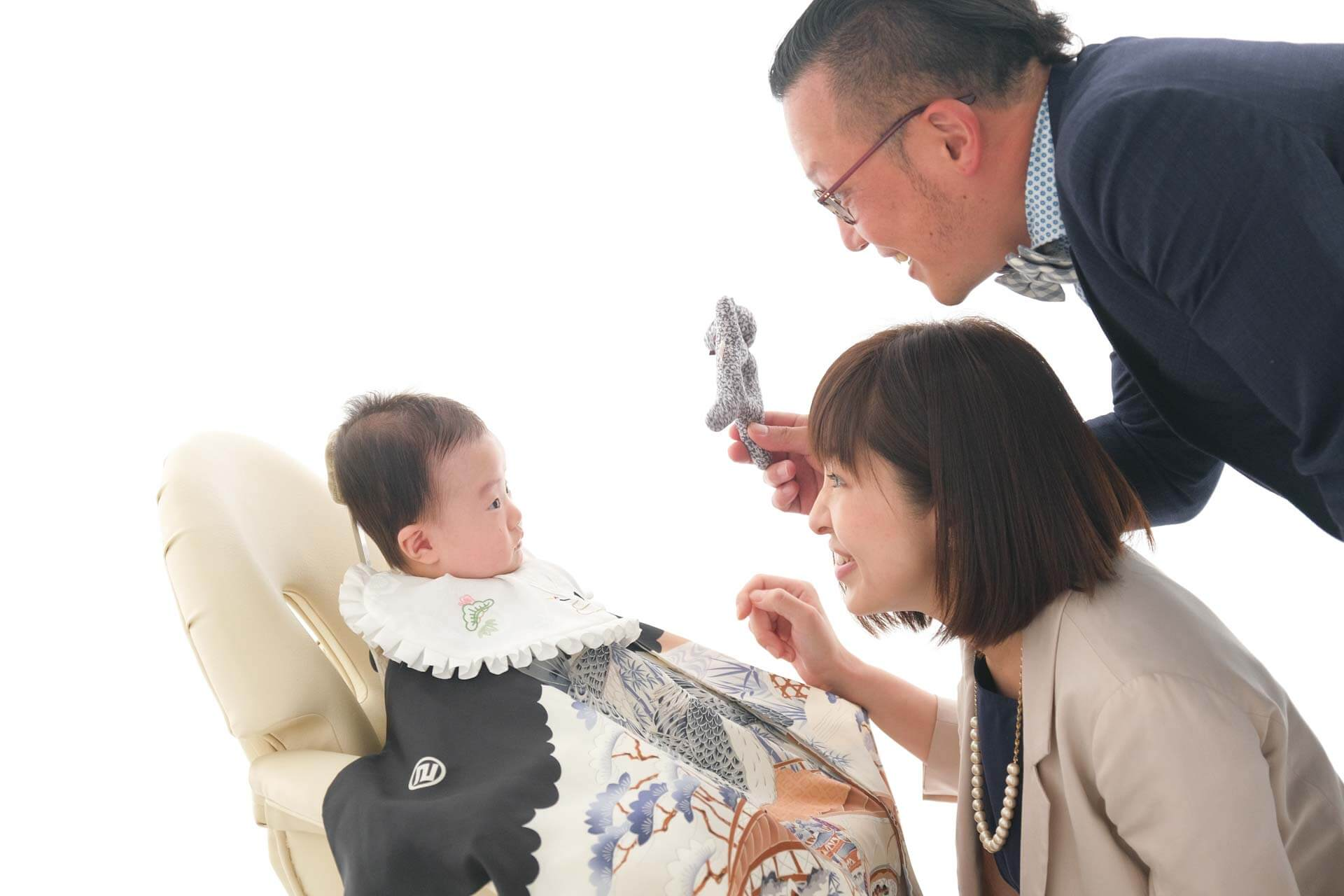 お宮参りの家族写真
