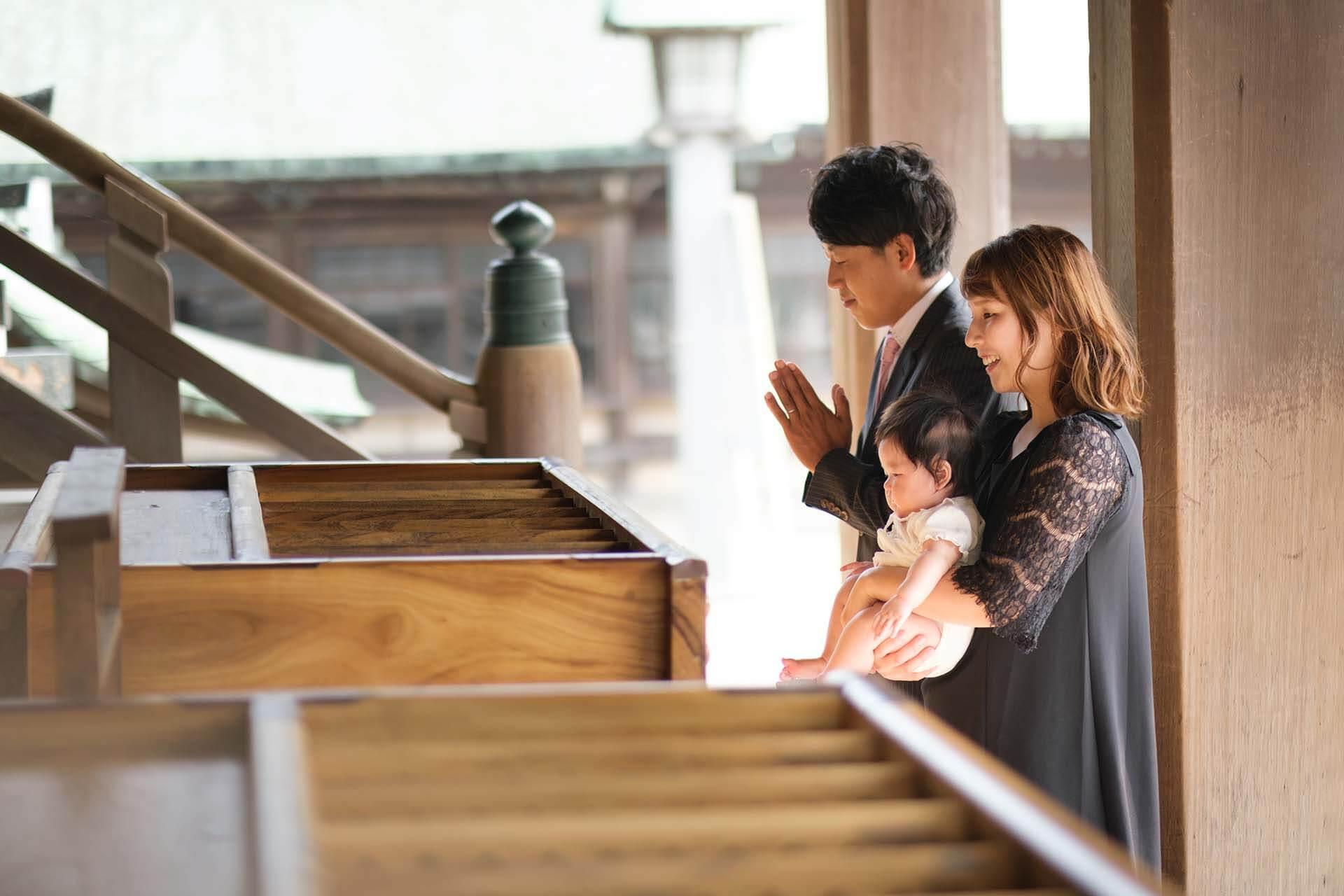 宮地嶽神社でのお宮参り出張撮影参拝シーン